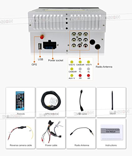 bosion car stereo wiring diagram bosion image amazon com reviewer camera canbus 8 2 din touch screen on bosion car stereo wiring