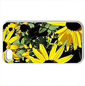 Autumns Wildflowers - Case Cover for iPhone 4 and 4s (Flowers Series, Watercolor style, White)