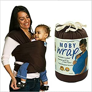 Moby Wrap Baby Carrier 100% Cotton Originals 5.5M Baby Sling 1-pc Set (Chocolate)