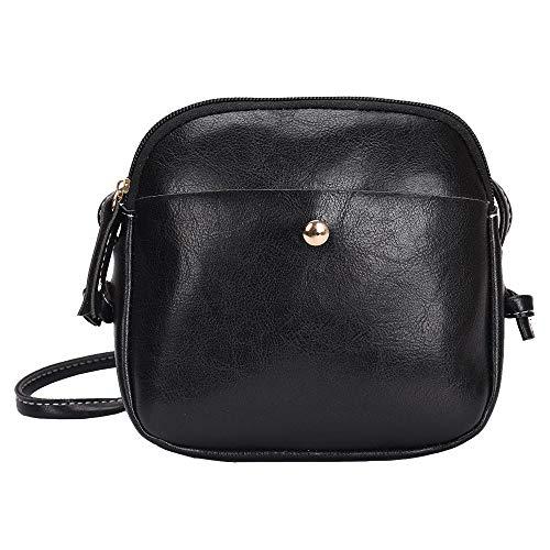 (lecimo Women Waterproof Nylon Messenger Bags Cross Body Shoulder Bag Tote Multi Pocket)