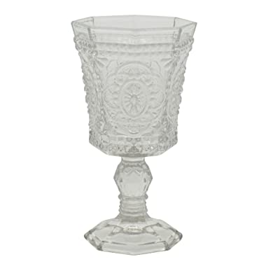 10 Strawberry Street Vatican 8 Oz Red Wine Glass, Set of 6, Clear Glass
