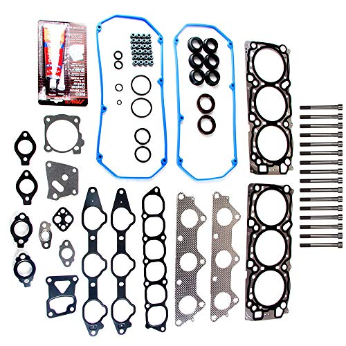 OCPTY Head Gasket Set w/Bolts Kit for Dodge Kia Mitsubishi Montero Sport Diamante 3.5L 6G74 89-06 Gaskets Kit Set