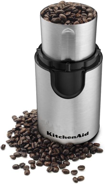 Electric Whole Coffee Bean Nut Spice Blade Grinder Blender Espresso 160W Grey