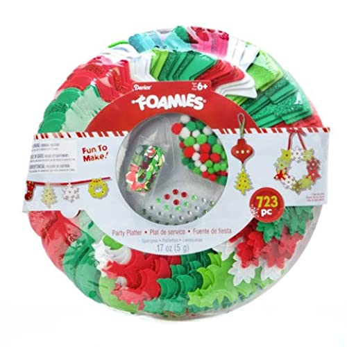 christmas ornament craft holiday party platter foamies kit shapes include trees wreaths snowflakes stockings 723 pieces