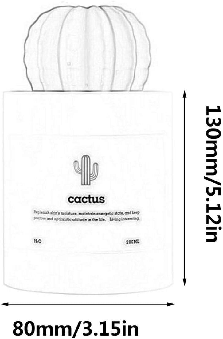 Lorenlli Creativo Mini Usb Cactus humidificador purificador de ...