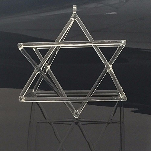 Optically Clear Quartz Crystal Singing Merkaba Pyramid 7 Crystal Singing Bowl (Bowl 18 Cm)