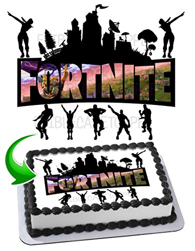 Price comparison product image Fortnite Battle Royale Edible Cake Image Cake Topper Icing Sugar Paper A4 Sheet Edible Frosting Photo 1 / 4 Sheet Cake