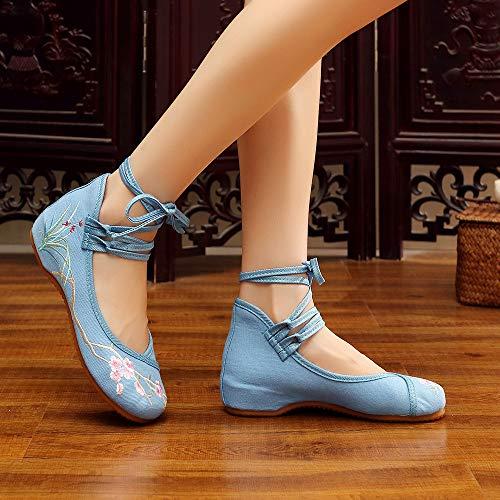 Bozevon Ricamati Piatti Ricamate Bowknot Style2 Sandali Alla Caviglia Scarpe Donna rAPqw8rS