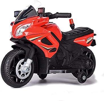ES-TOYS niños Motocicleta eléctrica policía 911, función de música Luces de Alarma Sirena, Ruedas de Entrenamiento, Color:Rojo: Amazon.es: Juguetes y juegos