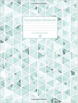 Composition Notebook: Cute College Ruled Notebook with
