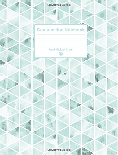 Read Online Composition Notebook: Cute College Ruled Notebook with Trendy Mint Watercolor Cover, for Journaling, School Supplies, Note Taking, Planning and Habit Tracker pdf