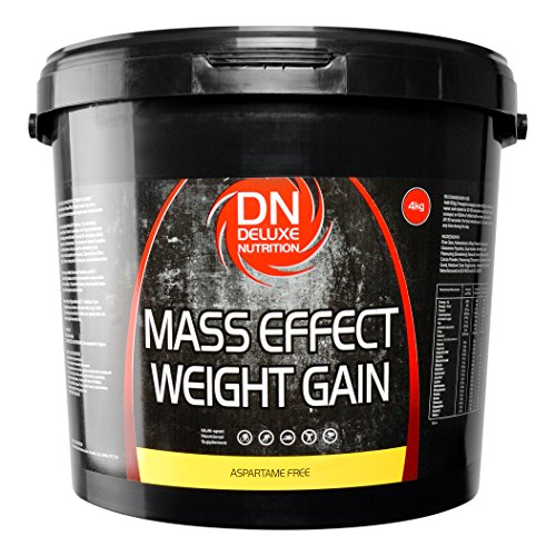 Deluxe Mass Effect Hi Calorie Weight Gainer 4kg Banana Whey Protein Casein...