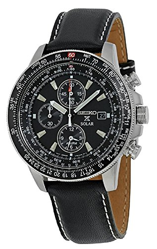 SEIKO PROSPEX solar pilot chronograph boxed watch 100m water resistant Men's SSC009P3 -  1K8NPEU4