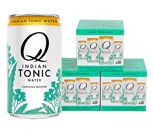 Water Quinine (Q Drinks, Q Indian Tonic, Spectacular Indian Tonic, Premium Mixer, 7.5 Ounce Slim Can (Pack of 12))