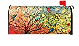 Toland Home Garden Tree Birds Colorful Summer Fall Bird Magnetic Mailbox Cover