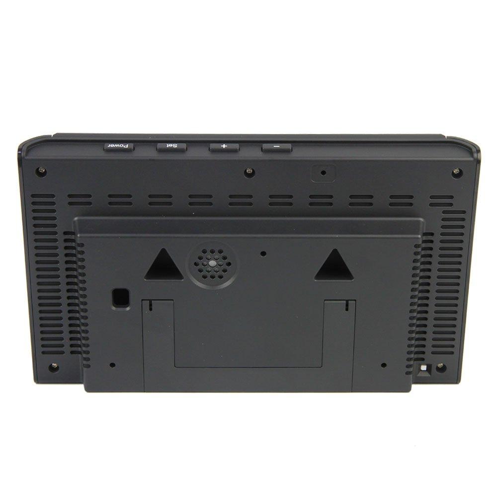 P1000 Air Quality Monitor PM2.5 PM10 Formaldehyde CO2 TOVC Temperatura Detector de la calidad del aire utilizado para interiores Cocina Autom/óvil y ambiente trabajo especial con pantalla LCD VA grande