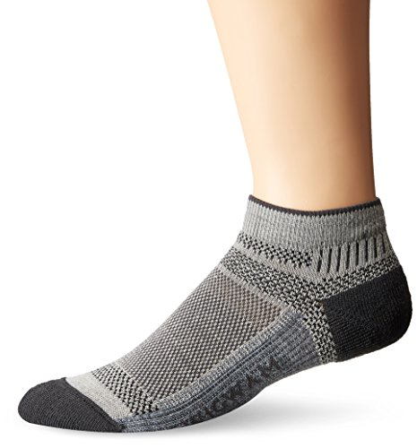 Wigwam Men's Ultra Cool-Lite Ultimax Ultra-Lightweight Low Sock,Grey,Medium/shoe Size:Men's 5-9.5,Women's 6-10