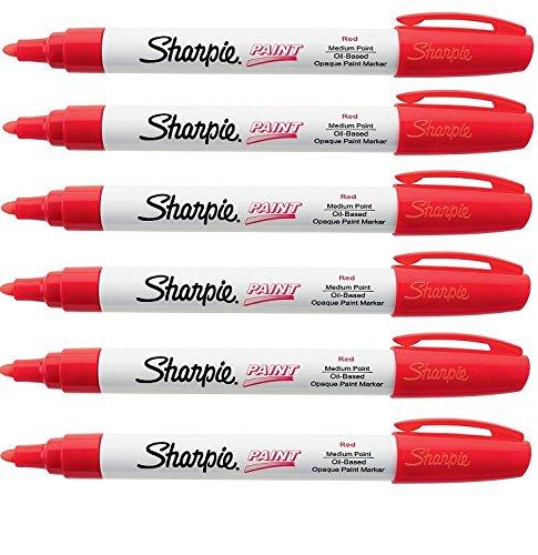 sharpie-oil-based-paint-marker-medium-point-6-pack-red