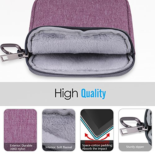 """MoKo 6 Inch Kindle Sleeve Case Fits for All-New Kindle 10th Generation 2019/Kindle Paperwhite 2018, Nylon Cover Pouch Bag for Kindle Voyage/Kindle (8th Gen, 2016)/Kindle Oasis 6"""" E-Reader, Dark Gray"""