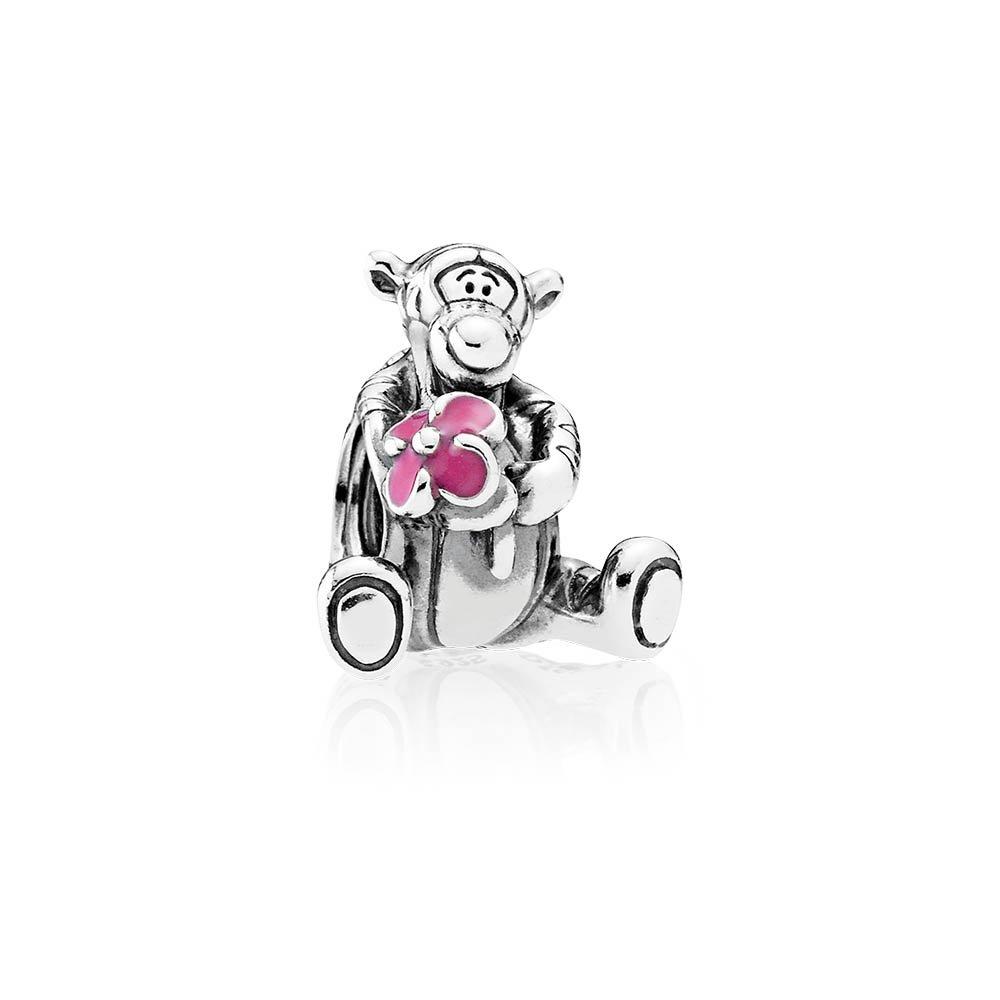 PANDORA Disney, Tigger Charm, Pink Enamel 792135EN80