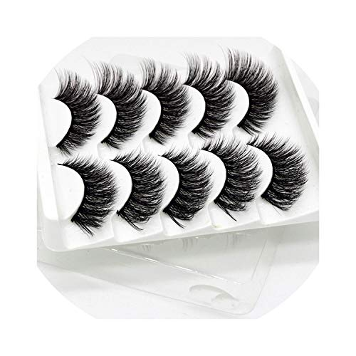 13 Styles 5Pairs Hair False Eyelashes Natural/Thick Long Eye Lashes Wispy Makeup Beauty Extension Tools Wimpers,52]()