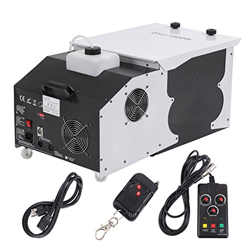 Ridgeyard Update 1500W Fog & Smoke Machine - 2.5L Low-Lying Dry Ice Effect Ground Fogger- Up Fog Spray with Wireless Remote Control Great for DJ Club Disco Stage Effecting Wedding Show Theater