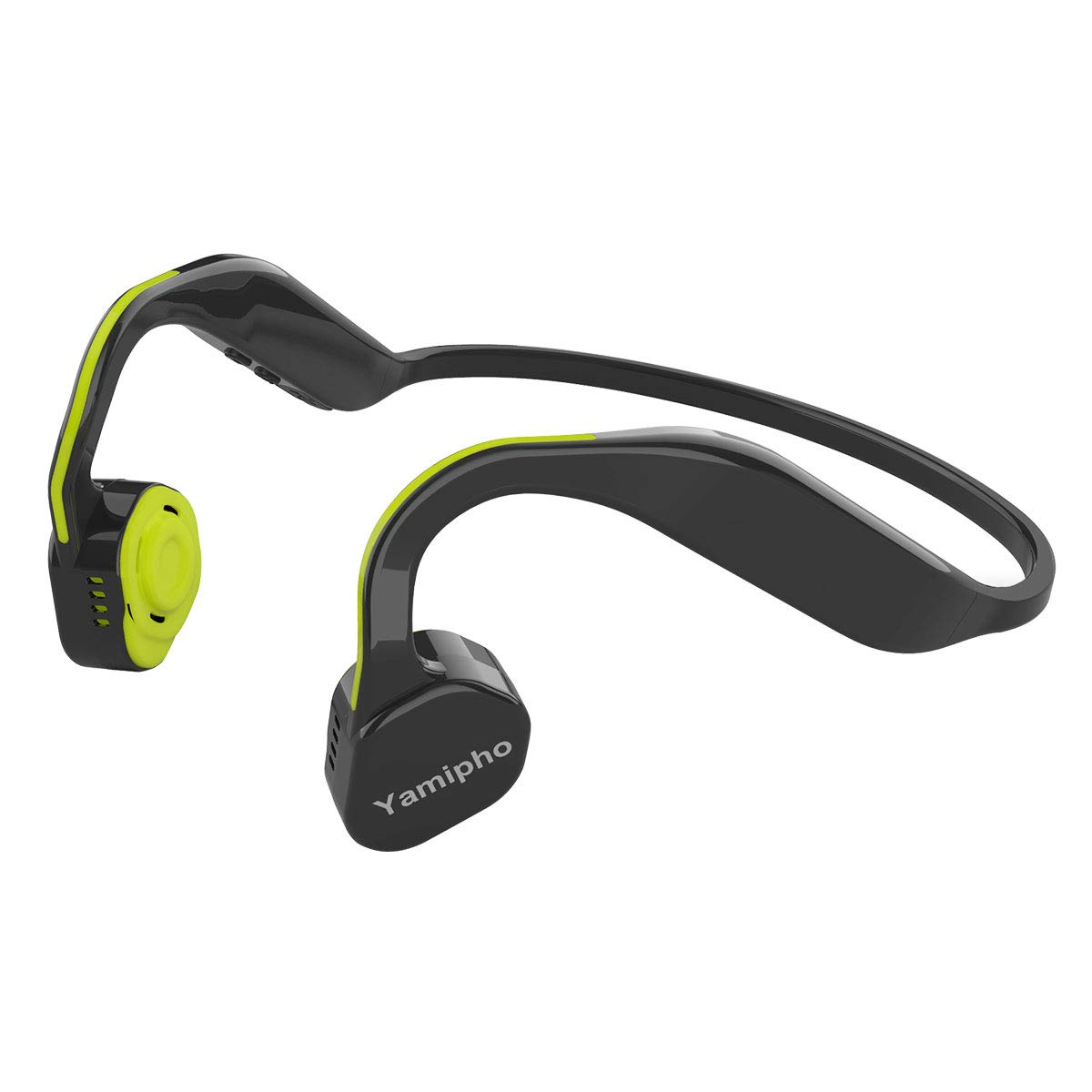 Bone Conduction Headphones Yamipho Open-Ear Wireless Bluetooth 5.0 Headphones Titanium Sports Lightweight Sweatproof with Mic Outdoor for iPhone Android Device Running Driving Working