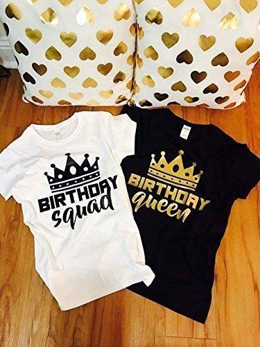 Birthday Shirt Women Girl Squad Shirts Goals For