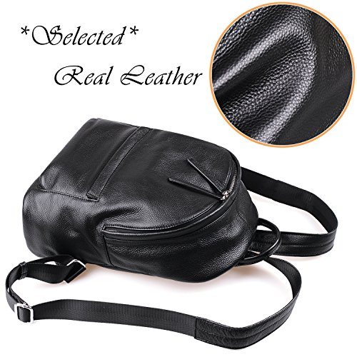 Women amp;Chris WB204 Handbags Backpack Chic School black205 Purse Jack Zipper Backpack Leather for 0dqg06w