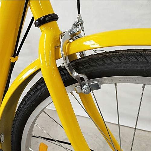 DYJD Volwassen driewieler fiets 24 inch Comfort fietsen voor recreatie en winkelen met verstelbare hoogte en achtermand, zwart