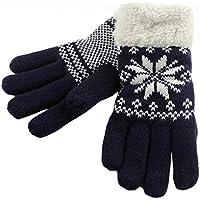 Hot Sale !!! Women's Christmas Gloves,Jushye Fashion Girls Knit Wool Women Girl Snowflake Winter Keep Warm Mittens Gloves