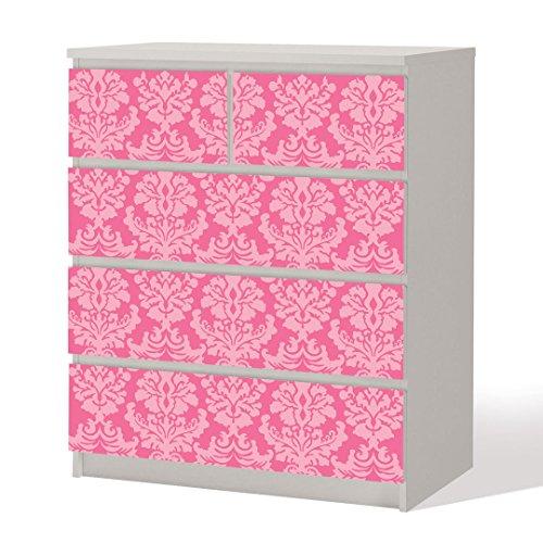 Möbelfolie -- Ornamente -- Dekorfolie für Schränke & Tische -- Rosa Pink Klebefolie Möbel Aufkleber Tattoo