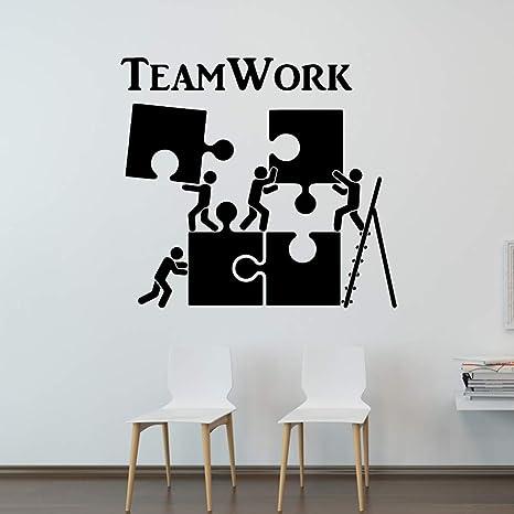 Tylpk Modern Teamwork Motivation Decor For Office Wall Sticker Pvc Removable Waterproof Home Decoration Accessories Purple L 58cm X 63cm Amazon Co Uk Baby