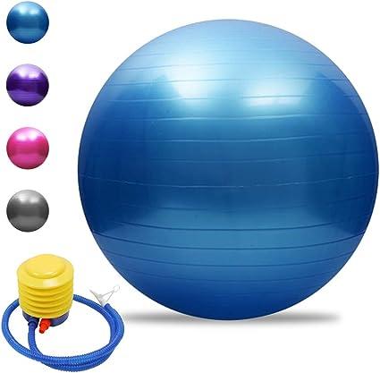 Lixada Gymnastikball Yoga Ball Anti-Burst Verdickt Stabilit/ät Balance Ball Pilates k/örperliche Balance Ball 55CM//65CM//75CM Geschenk Luftpumpe