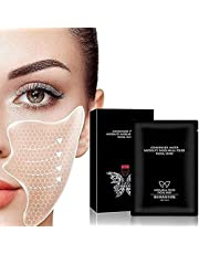 Hyaluronic Acid Microcrystalline Lifting Decree Patch,Instant Beauty Face Nutrition Wrinkle Removal Lift Sticker,Face Tape for Decree Patch 5 Pcs