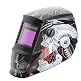 Antra AH66606320 Solar Power Auto Darkening Welding Helmet with AntFi X606 Wide Shade Range 4/59/913 with Grinding Feature Extra lens covers Good for TIG MIG MMA Plasma