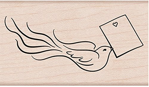 - Hero Arts G6259 Love Note Bird Mounted Rubber Stamp, Multicolor