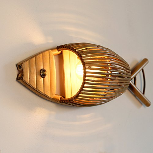 Personalized Restaurant Cafe Creative Bamboo Wall Lamp Bar Tea Bamboo Fish Shop Farm Restaurant Wall Light Living Room 640200Mm Outdoor Kids Living Room Bedroom Wedding Birthday Party Gift