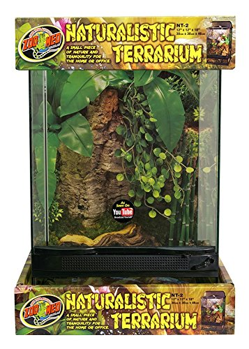 "Zoo Med Laboratories SZMNT2 Naturalistic Terrarium, Medium (12"" X 12"" X 18"")"