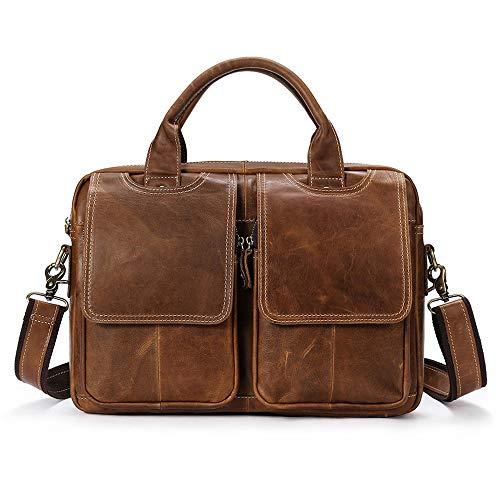 Viajes Hombre 8 36 ayng 25cm brownc Vintage Trabajo Bolsa Para Wy Viaje negocios De Adecuado Bolso Maletín Messenger Bandolera Brownd qTxtqaw17