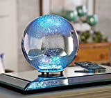 """8"""" Illuminated Mercury Glass Wireless Sphere"""