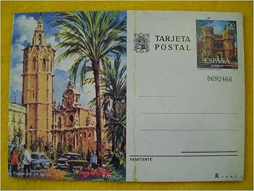 Tarjeta Entero Postal : Plaza de la Reina - Valencia - Sello 1.50 ptas: Amazon.es: Sin autor: Libros