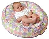 Leachco Podster Plush Sling-Style Infant Seat Lounger - Pink, Lilac and Sage Dot