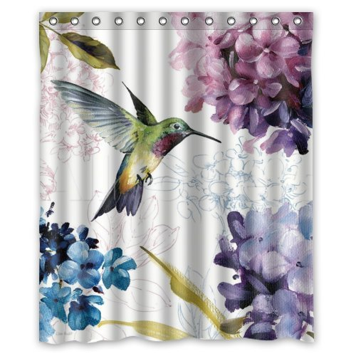 hummingbird-watercolor-painting-waterproof-shower-curtains-shower-rings-included-for-home-traval-hot