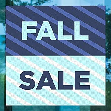 24x24 5-Pack Stripes Blue Perforated Window Decal CGSignLab Fall Sale