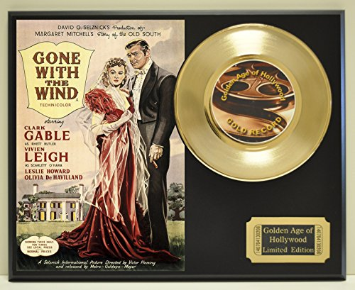 Gone With the Wind Limited Edition Gold 45 Record Display. Only 500 made. Limited quanities. FREE US SHIPPING