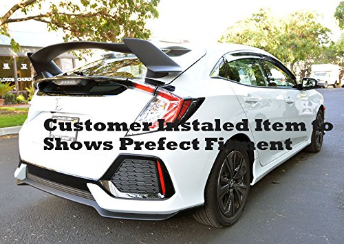 Amazon.com: EOS Body Kit Rear Wing Spoiler - Honda Civic 4 Door Sedan 16-Up 2016 2017 2018 Type R Style: Automotive