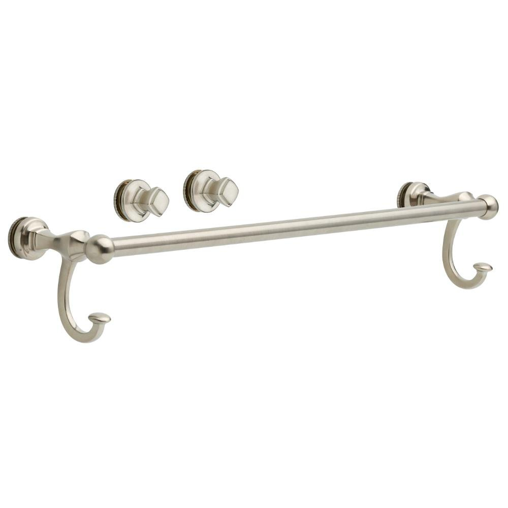 Delta Details about brand Portman 20 in. Handle with Knobs for Sliding Shower or Bathtub Door in Nickel by Delta