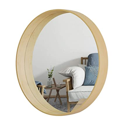 Bathroom wall mirrors Lowes Wallmounted Mirrors Wall Mirror Solid Wood Round Decorative Mirror Entrance Mirror Bathroom Wall Decorative Amazoncom Amazoncom Wallmounted Mirrors Wall Mirror Solid Wood Round