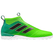 adidas Men's ACE TANGO 17+ PURECONTROL TF Turf Soccer Cleats (Solar Green)